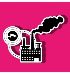 Security system in industrial plant isolated icon vector