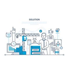 Solution of tasks marketing planning software vector