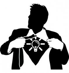 super idea man vector image vector image