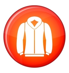 Sweatshirt icon flat style vector image