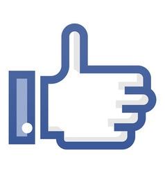 Thumb up symbol vector