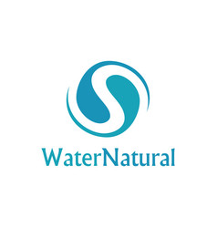 Water natural logo vector