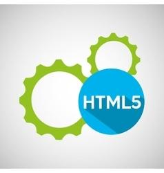 Web development gears html5 vector