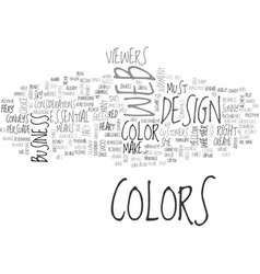Woo your viewers through colors text word cloud vector