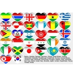 World flag eps10 vector