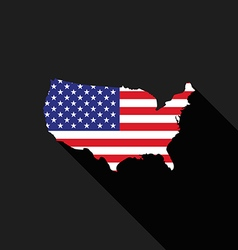 Usa america flag map flat design icon vector