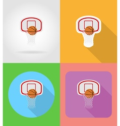 sport flat icons 09 vector image