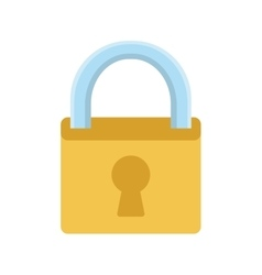 Safe padlock secure isolated icon vector
