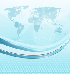 Business card with world map vector image