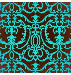 Damask thistle floral background pattern vector image