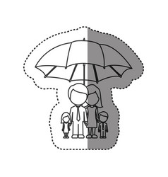 sticker of monochrome contour of umbrella vector image