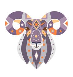 Ram head logo goat decorative emblem vector