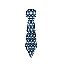 Elegant tie to use in special day vector