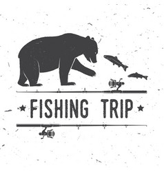 Fishing trip vector