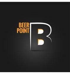 Beer point design background vector