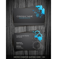 dark business card vector image