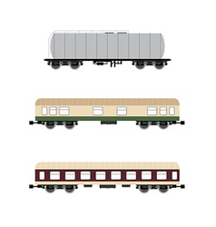 Wagons set vector