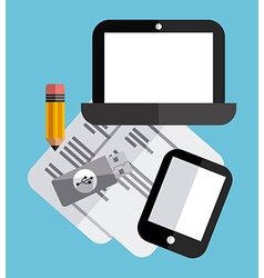 tech gadgets vector image