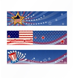 4th of july banners set vector