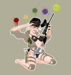 Paintball pinup vector