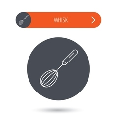 Whisk icon kitchen tool sign vector