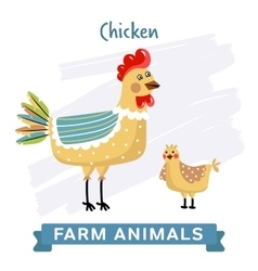 Chicken isolated vector