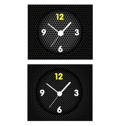 Modern Metal Clock vector image