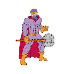 Executioner superhero with axe vector