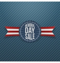 Memorial day sale realistic badge and ribbon vector