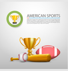American sports sign cover object vector