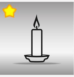 black candle icon button logo symbol concept vector image