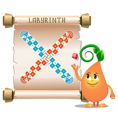 Board game labyrinth vector image vector image