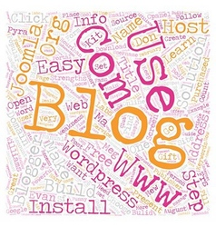Build your blog text background wordcloud concept vector
