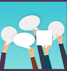 Business people holding many carton speech vector