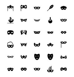 Carnival icons 1 vector