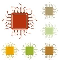 CPU Microprocessor vector image vector image