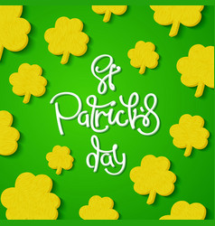 Creative st patricks day background vector