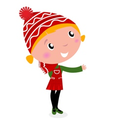 cute christmas cartoon vector image vector image