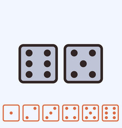 dice icon isolated vector image