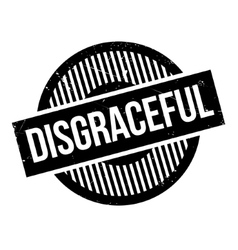 Disgraceful rubber stamp vector