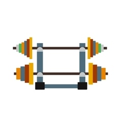 Dumbbell exercise weights gym fitness equipment vector image vector image