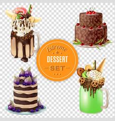 Extreme dessert combos transparent set vector
