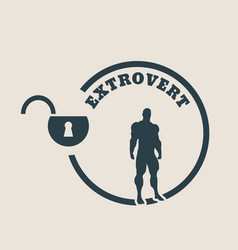 Extrovert metaphor icon vector