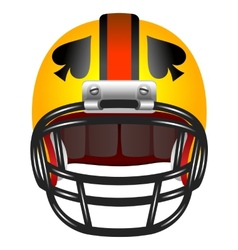 Football helmet with ace of spades vector image vector image