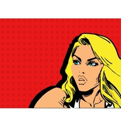 Girl comics vector