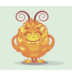 Good red furry monsters 6 vector image vector image