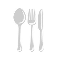 Gray cutlery icon image design vector image