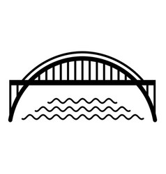 harbour bridge icon simple black style vector image