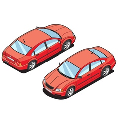 isometric image of a car vector image