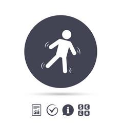 Man falls sign icon falling down human symbol vector
